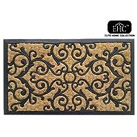 EHC Panama Natural Coir & Rubber Indoor or Outdoor Non-Slip Door Mat, Multi-Colour