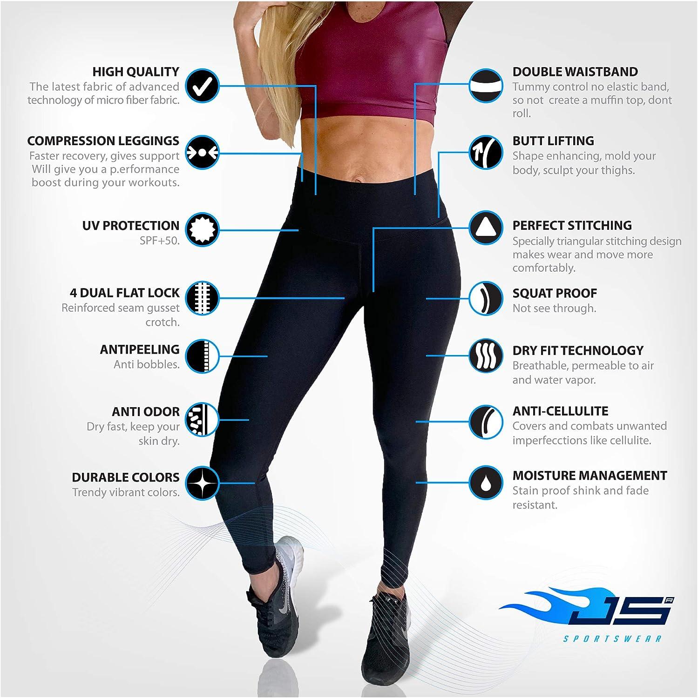 Mujeres Cintura Alta Compresion Anti Celulitis Ajustadas Leggings Para Correr Pantalones De Yoga Control Ar Com Ar