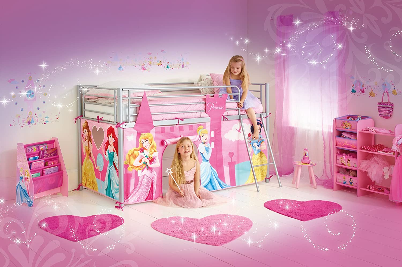 disney princesses habillage de lit mezzanine rose amazonfr cuisine u maison with lit carrosse. Black Bedroom Furniture Sets. Home Design Ideas