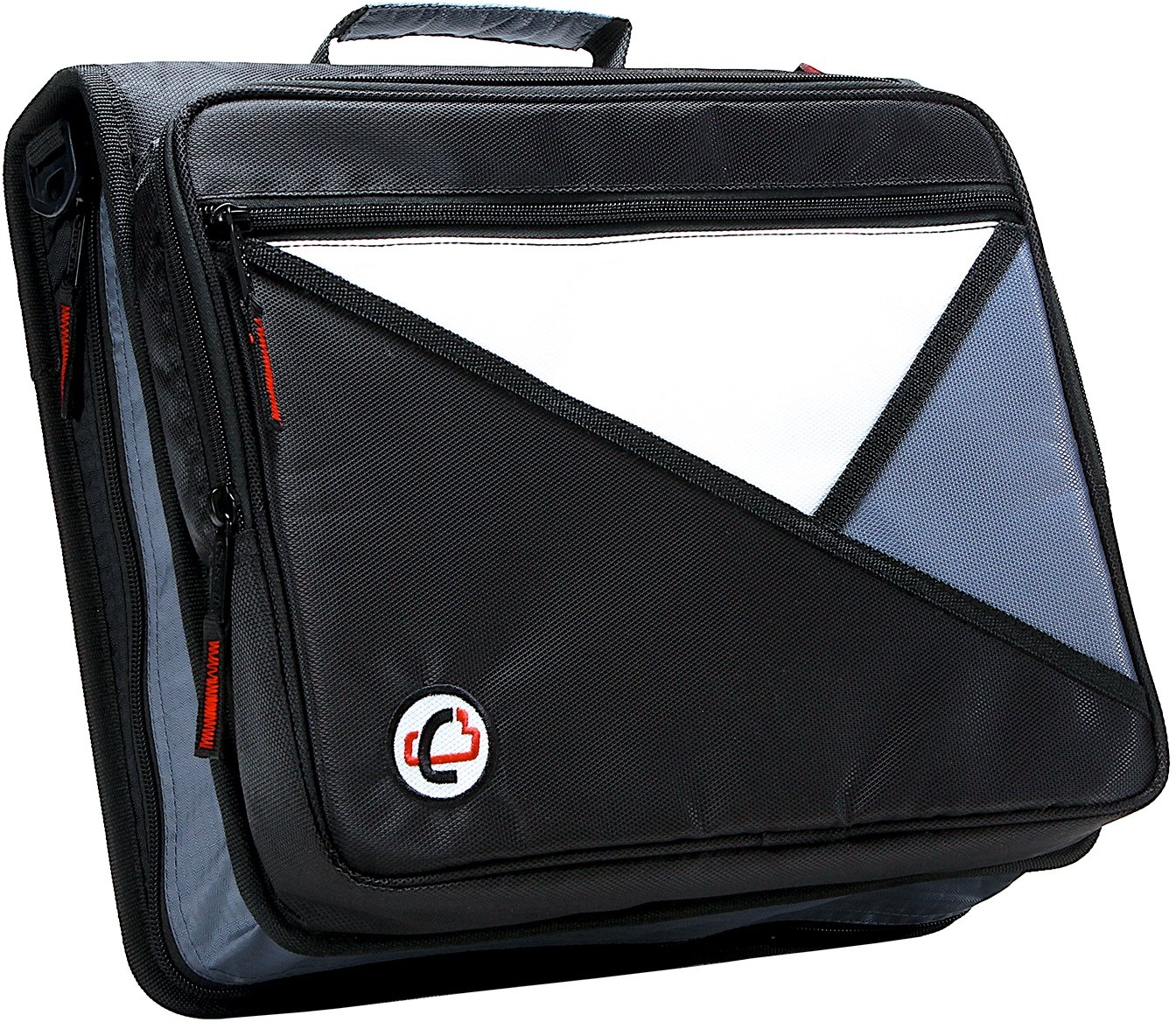 Case-it Universal 2-Inch 3-Ring Zipper Binder, Holds 13 Inch Laptop, Black, LT-007-BLK by Case it