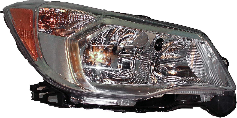 2014 2015 SUBAR FORESTR HEADLIGHT HEADLAMP LIGHT 2.5L HALOGEN CHROME LEFT DRIVER