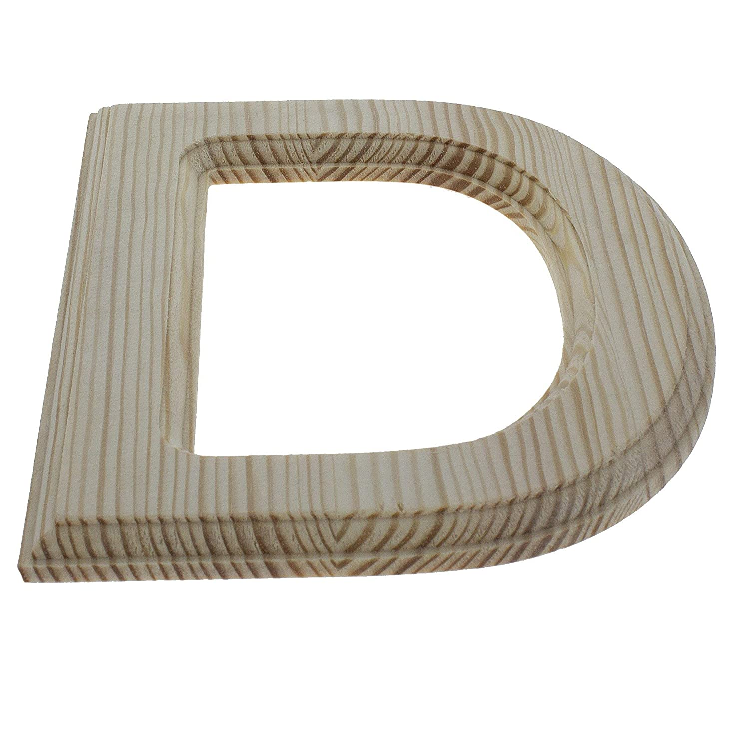 6.25 Inches BestPysanky Unfinished Wooden Letter D