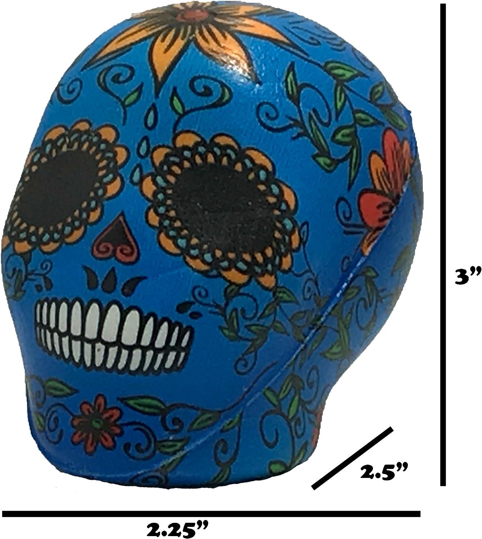 Halloween Squishy Day Of The Dead Dia de los Muertos Skull Stress Ball