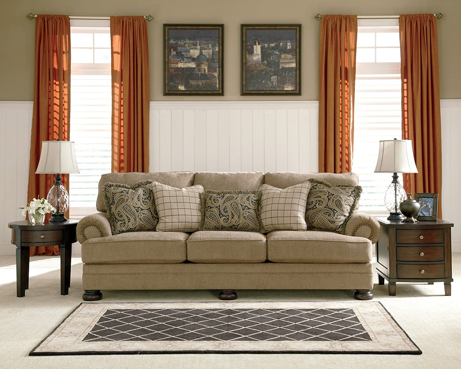 loveseat ashley mcgrory furniture and sofa reclining darcy couch mocha