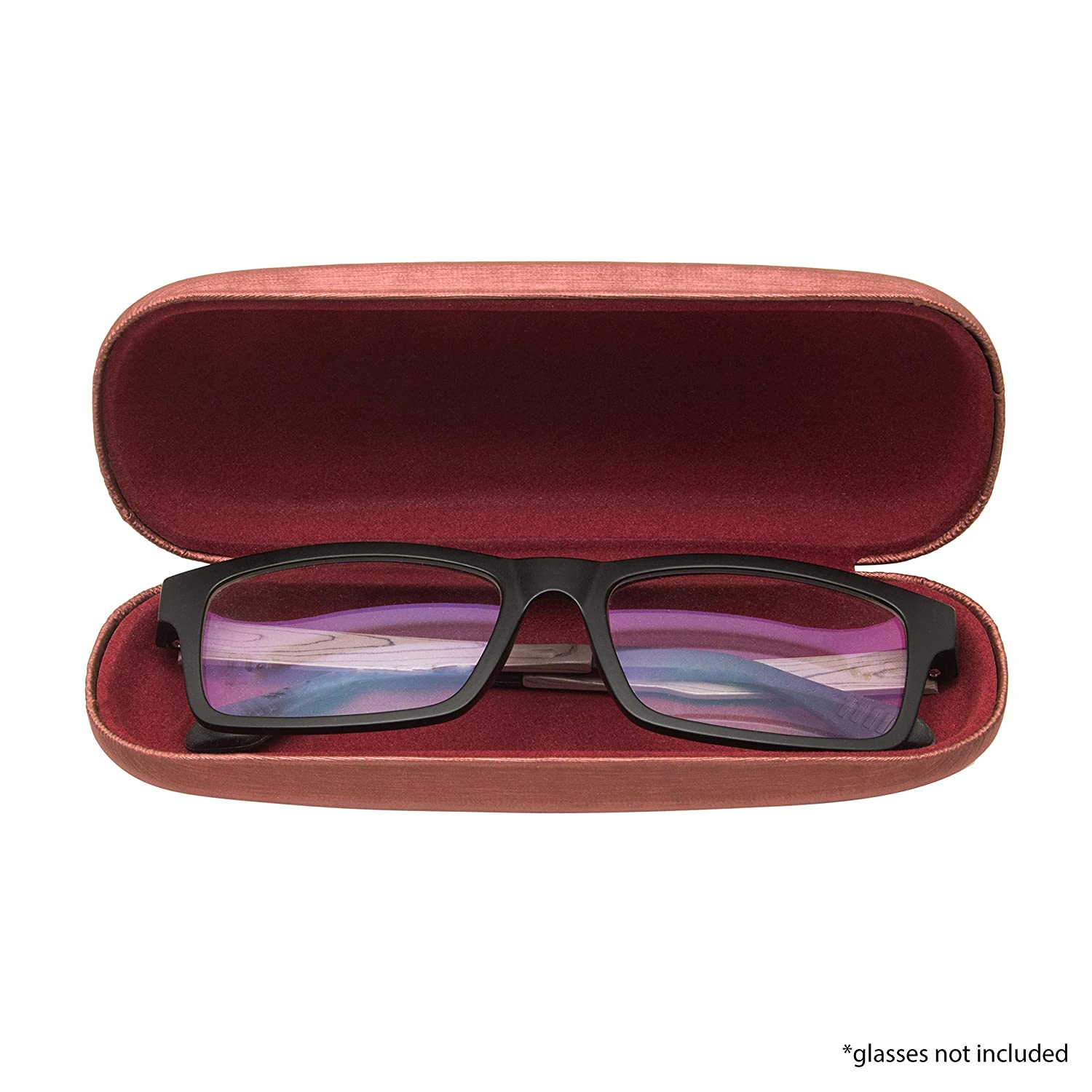Hard Shell Protective Eyeglass Case Elegant Brushed Case Holder For Glasses And Sunglasses With Microfiber Cloth For Adults and Kids.