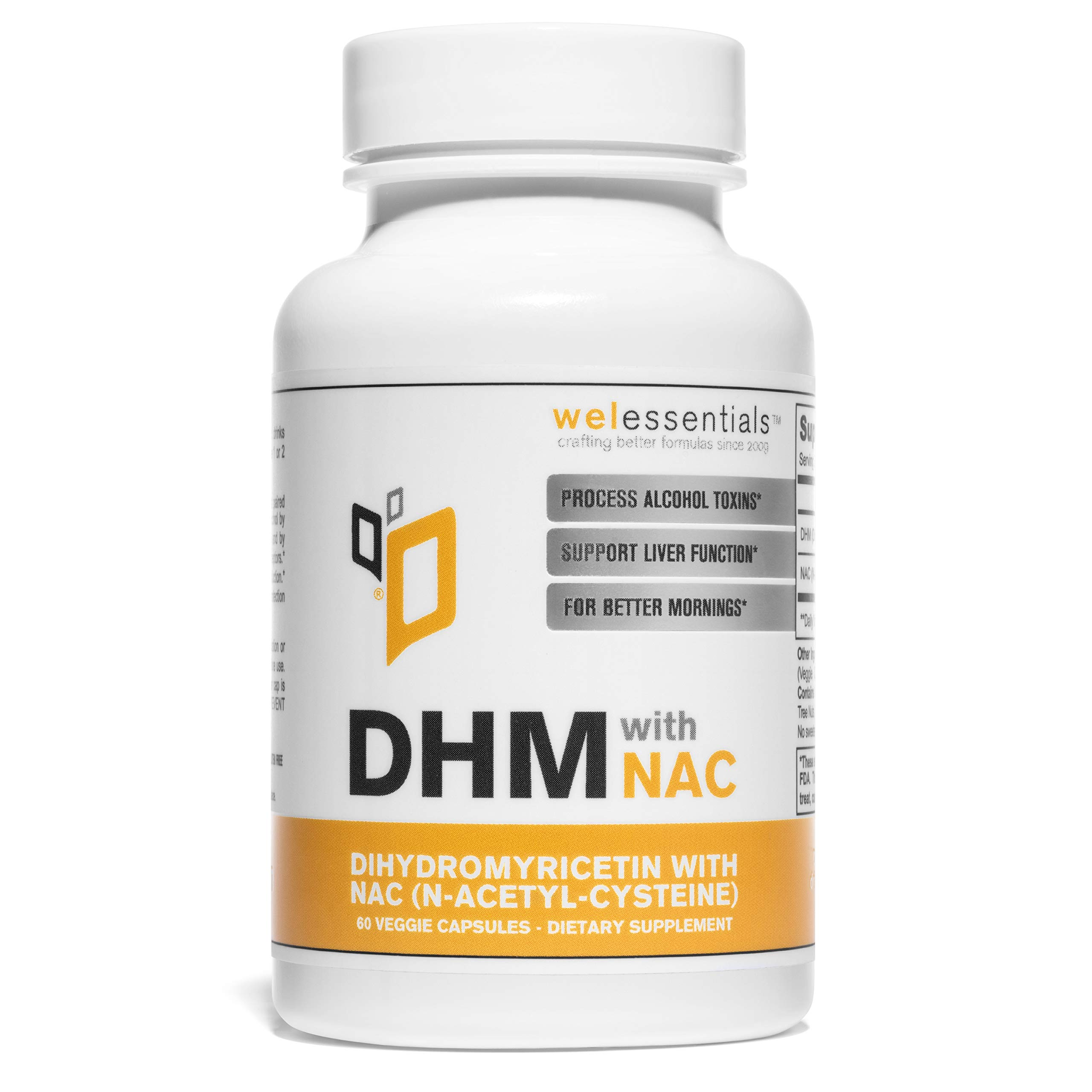 Max Strength DHM Dihydromyricetin with NAC by WEL Essentials (60 Capsule)