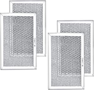 AMI PARTS 5304464105 Filter Microwave Oven Grease Filter Compatible with Frigidaire Stove Replacement Parts by AMI - 7-5/8 x 5 x 3/32 inch 4 Pack