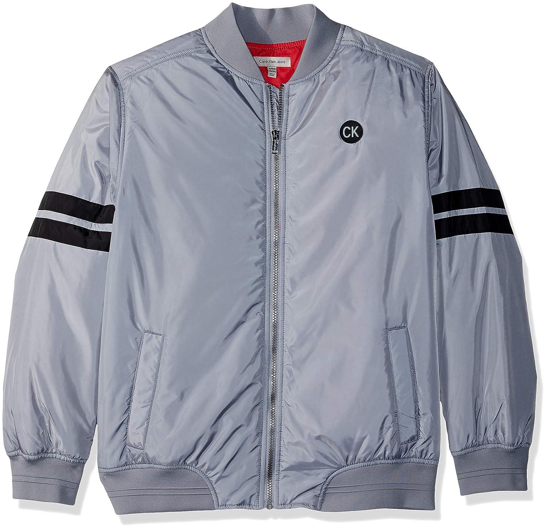 ff20591cc3cc Amazon.com  Calvin Klein Big Boys  Varsity Track Jacket  Clothing