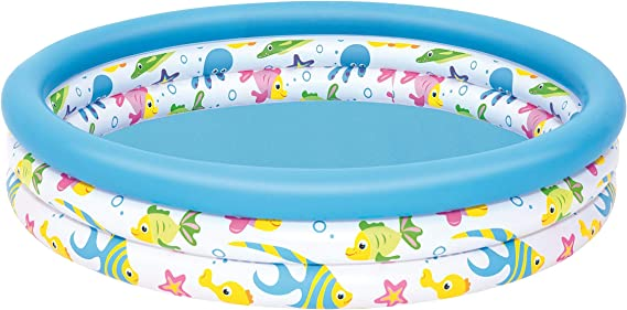 Color Baby-51009 Bestway. Piscina Infantil Coral 51009, Multicolor, 122 x 25 cm: Amazon.es: Juguetes y juegos