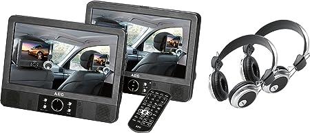 Aeg Dvd 4552 Lcd Tragbarer Dvd Player 22 86 Cm 9 Zoll Display Dvd Rw Sd Kartenslot Schwarz Audio Hifi