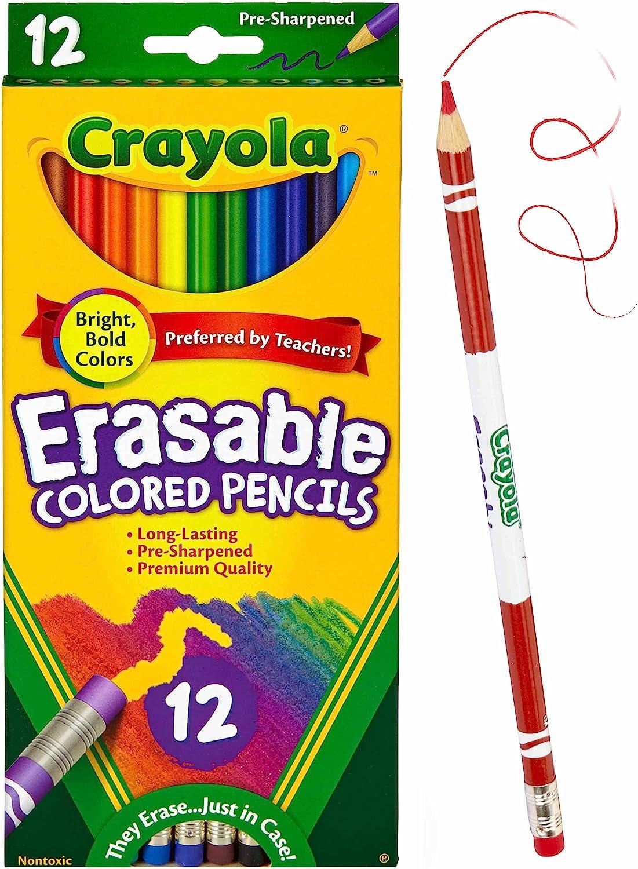 Erasable Colored Pencils 12 Ct Crayola Brand New