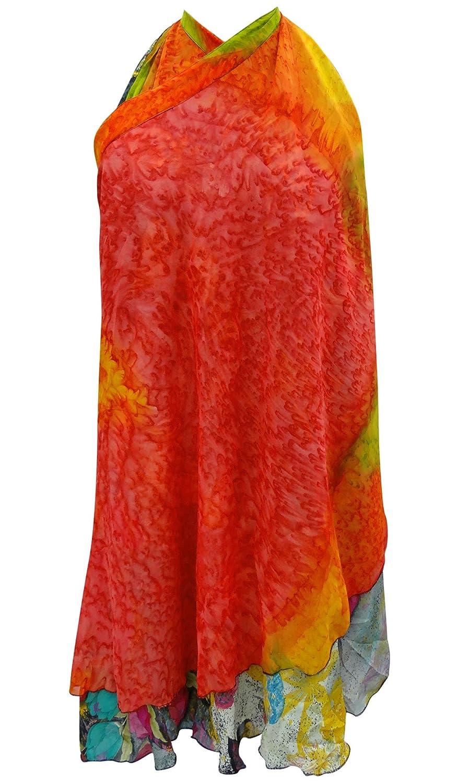 Reversible Kleid Zauber Wrap Georgette Rock Sari Sarong Plus Size Short