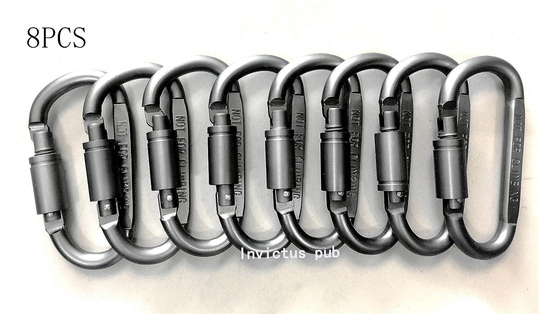 Invictus パブロックカラビナ  8pcs silver B07BSBCX4Q