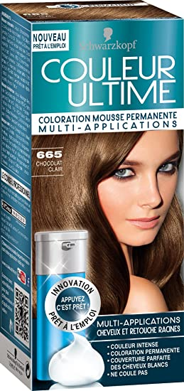 schwarzkopf couleur ultime coloration mousse permanente 665 chocolat clair - Coloration Sans Ammoniaque Schwarzkopf