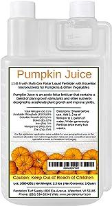 Pumpkin Juice 11-8-5 - Foliar Liquid Fertilizer with Essential Micro-nutrients for Pumpkins and Vegetables (1 Quart)