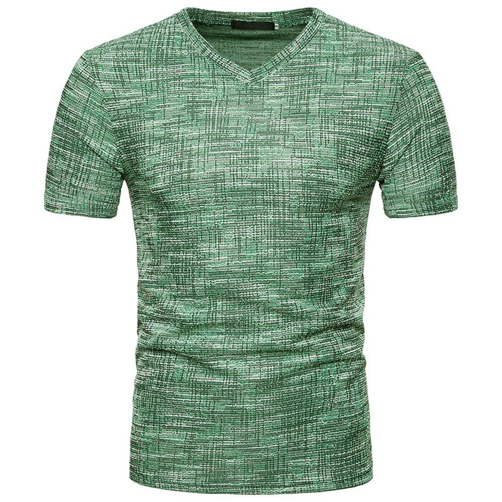 Solid T Shirts for Men, MISYYA Abstract Streak T Shirt Breathable Sweatshirt Muscle Tank Top Masculinity Tee Mens Tops Green by MISYAA (Image #1)