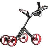 CaddyTek Superlite Explorer 4 Wheel Golf Push Cart, Red