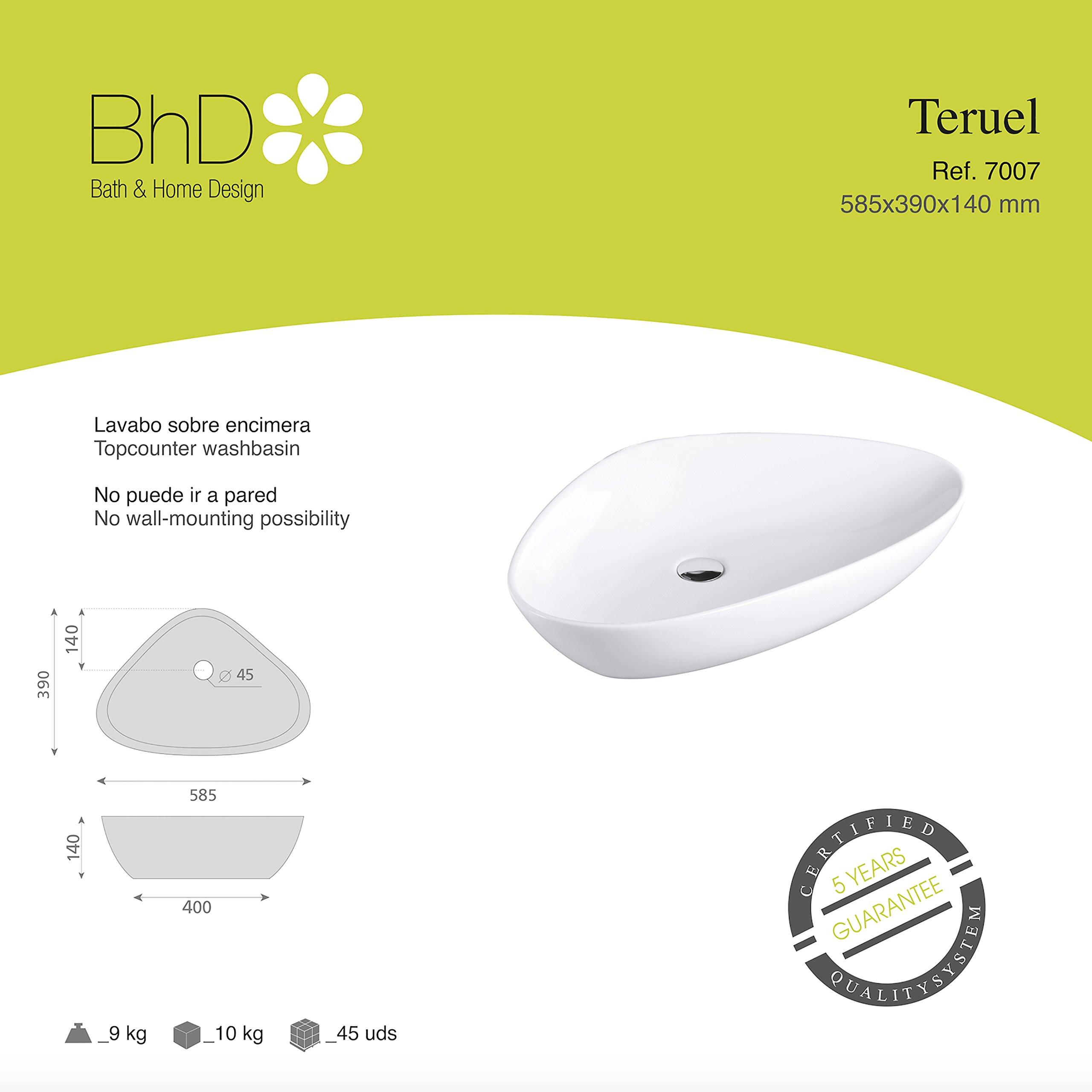 BHD 7007–Ceramic Sink, White