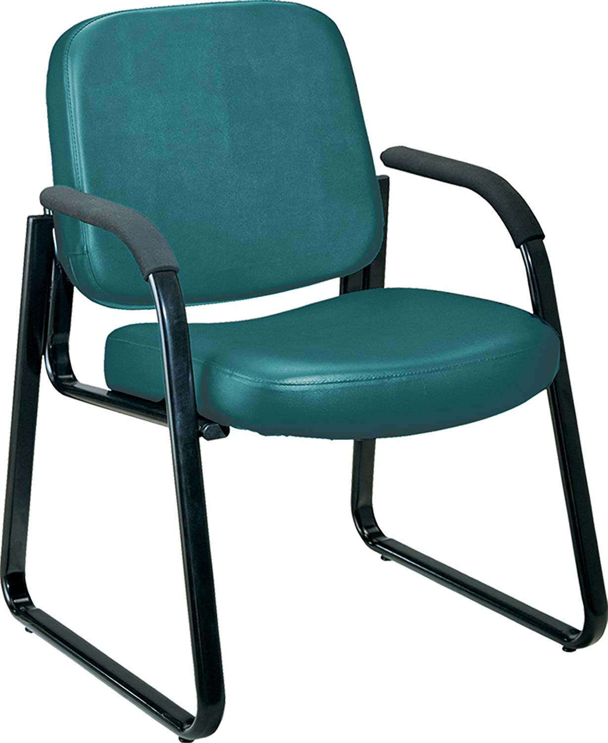 Amazon.com: OFM Vinyl Guest / Reception Chair with Arms, Charcoal ...
