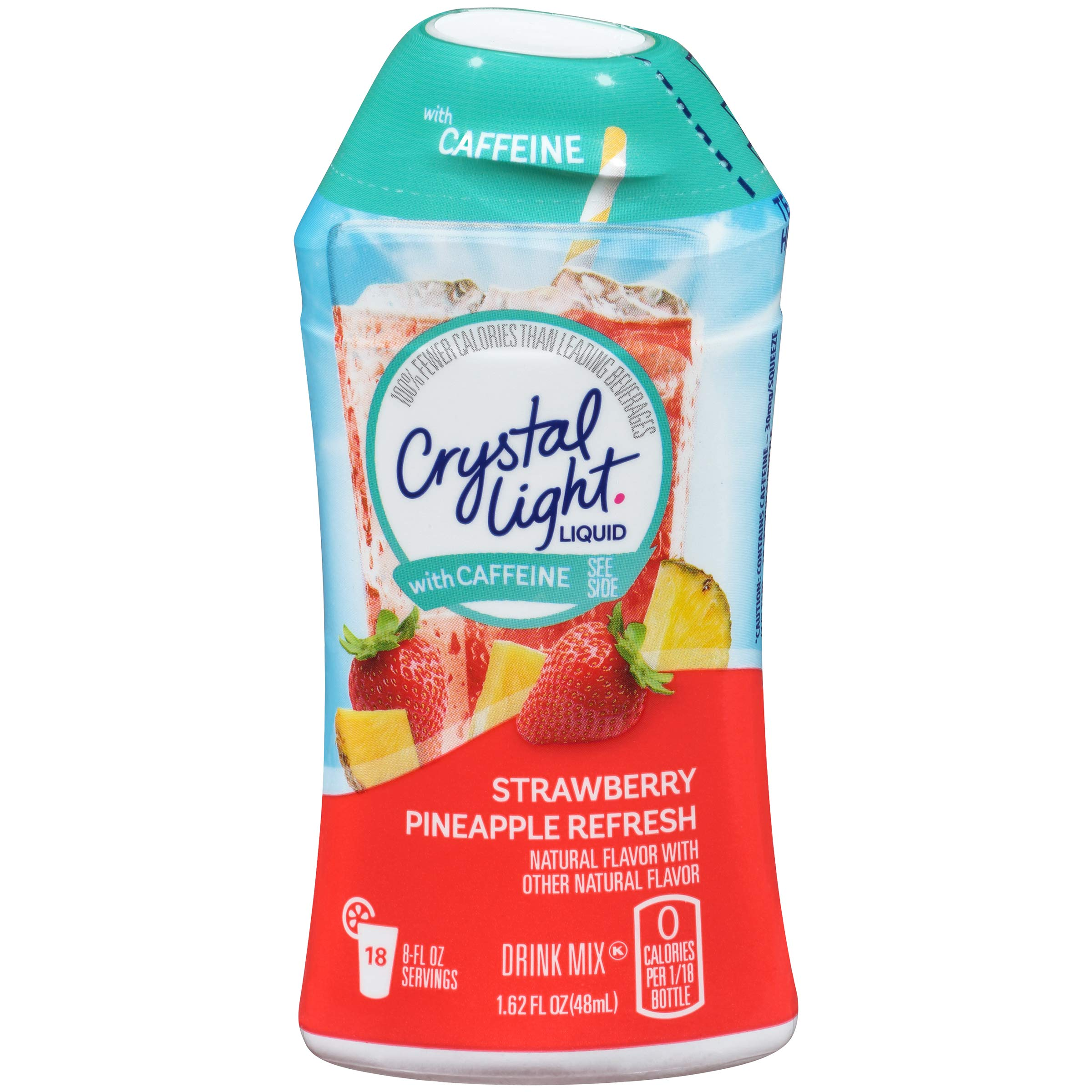 Crystal Light Liquid with Caffeine, Strawberry Pineapple Refresh, 1.62 Ounce