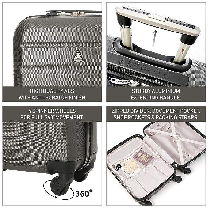 Amazon.com: Aerolite ABS carcasa rígida ligero equipaje de ...