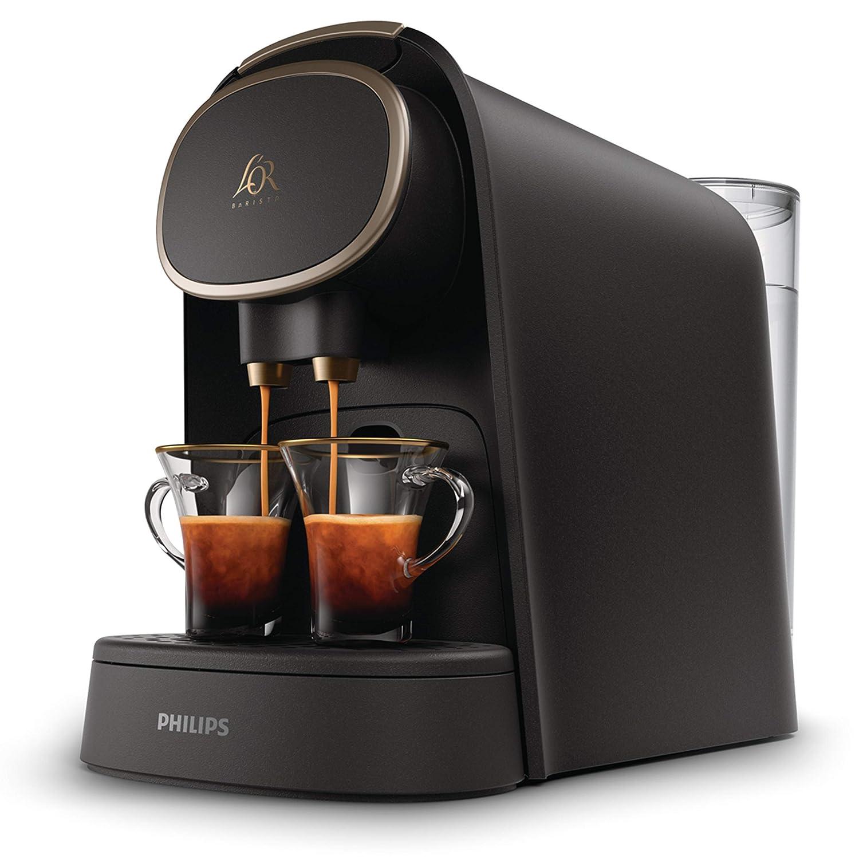 Philips LOR Barista LM8016/90 - Cafetera compatible con cápsula individual/doble, 19 bares presión, depósito 1L, acabado Premium