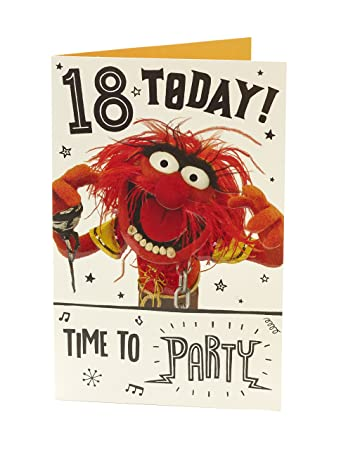 Amazon Muppets 18 Today 18th Birthday Card Office Products