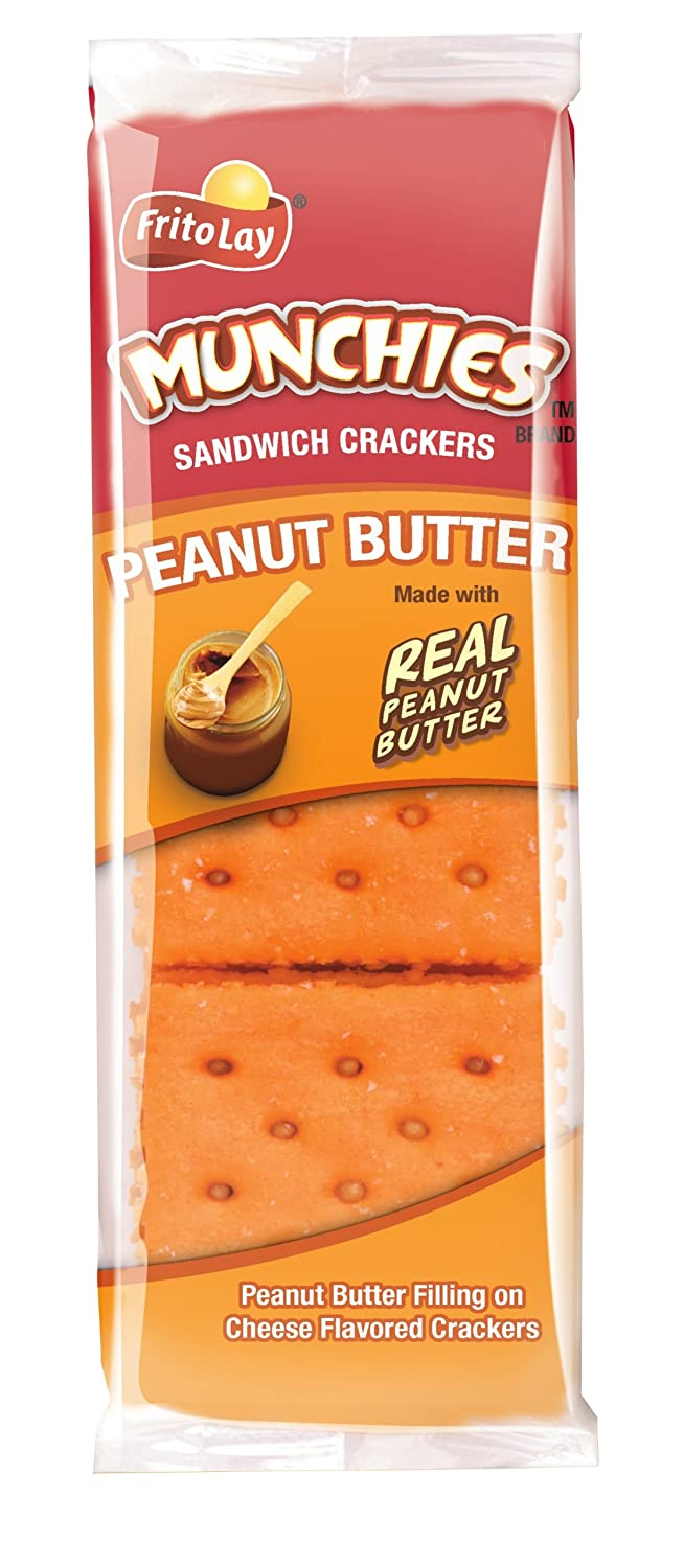 Munchies Peanut Butter on Cheese Crackers, 1.42 Ounce (Pack of 24)
