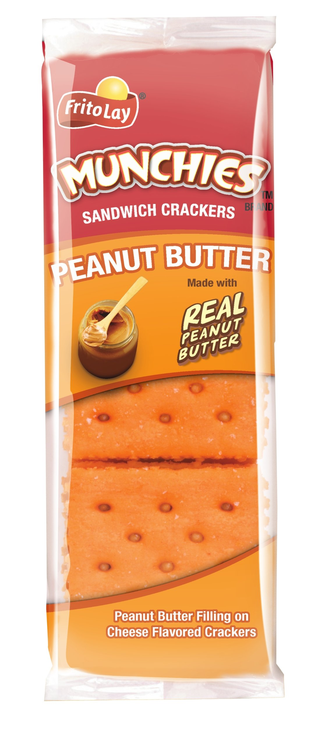 Munchies Peanut Butter on Cheese Crackers, 1.42 Ounce (Pack of 24) by Munchies
