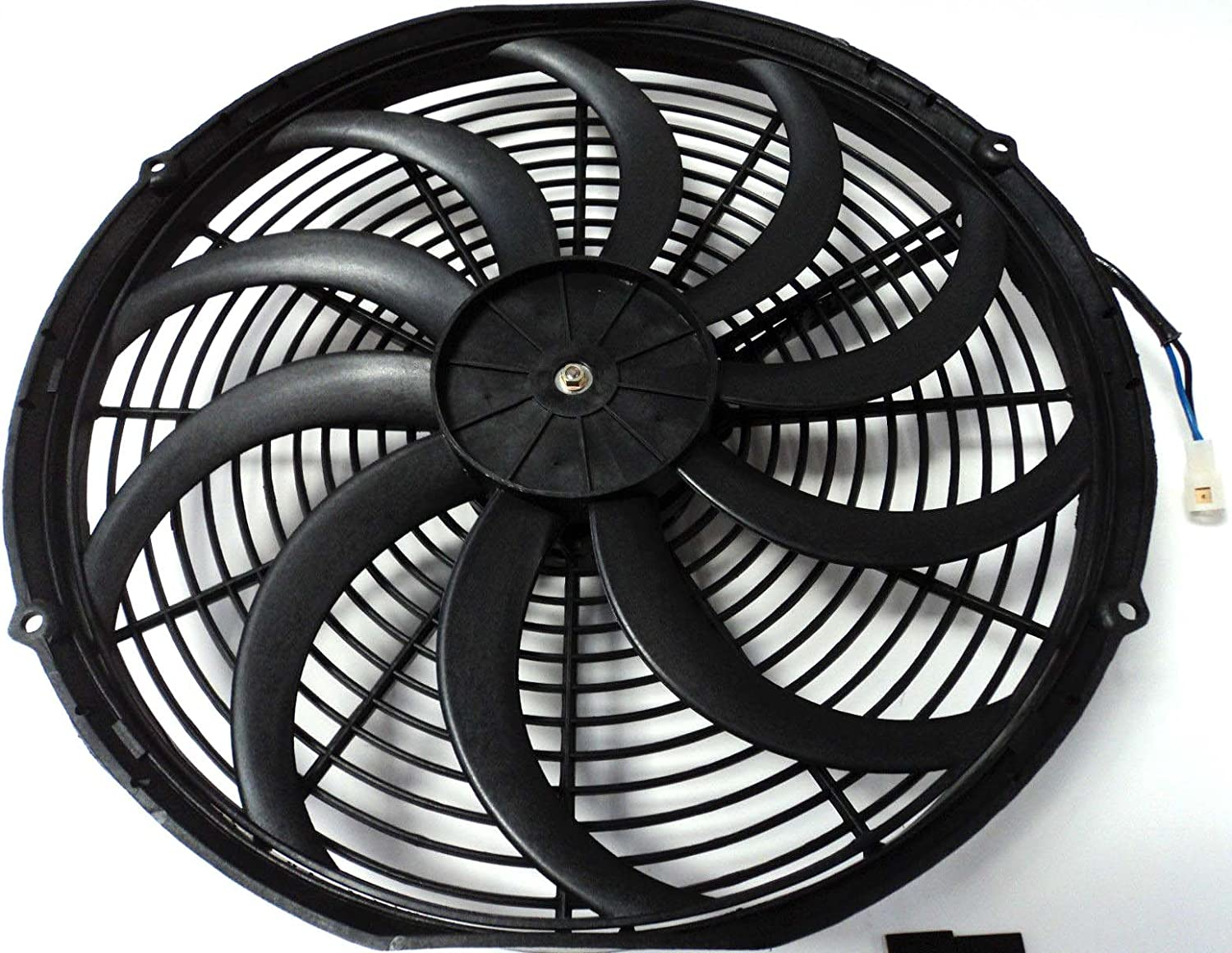 DEMOTOR PERFORMANCE 16 Heavy Duty Radiator Electric Fan 3000 CFM Reversible For SBC BBC 350 //Thermostat