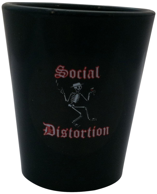 White Shot Glasses G-0016Social Distortion Drunk Skelly Shot Glass