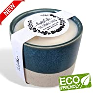 - The Growing Candle - Wildflower Seed Embedded Label, Reuse Ceramic Pot, Grow Flowers, Small Batch Artisan Soy Candle, Eco Friendly Gift, Less Waste, 10oz - Willow - (Rosemary)