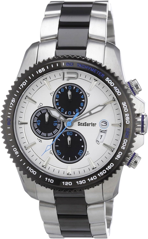 Sea Surfer 1630,4091 - Reloj analógico de Cuarzo para Hombre, Correa de Acero Inoxidable Chapado Multicolor