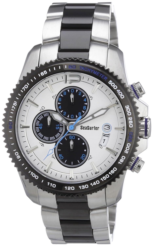 Sea Surfer 1630,4091 - Reloj analógico de Cuarzo para Hombre, Correa de Acero Inoxidable Chapado