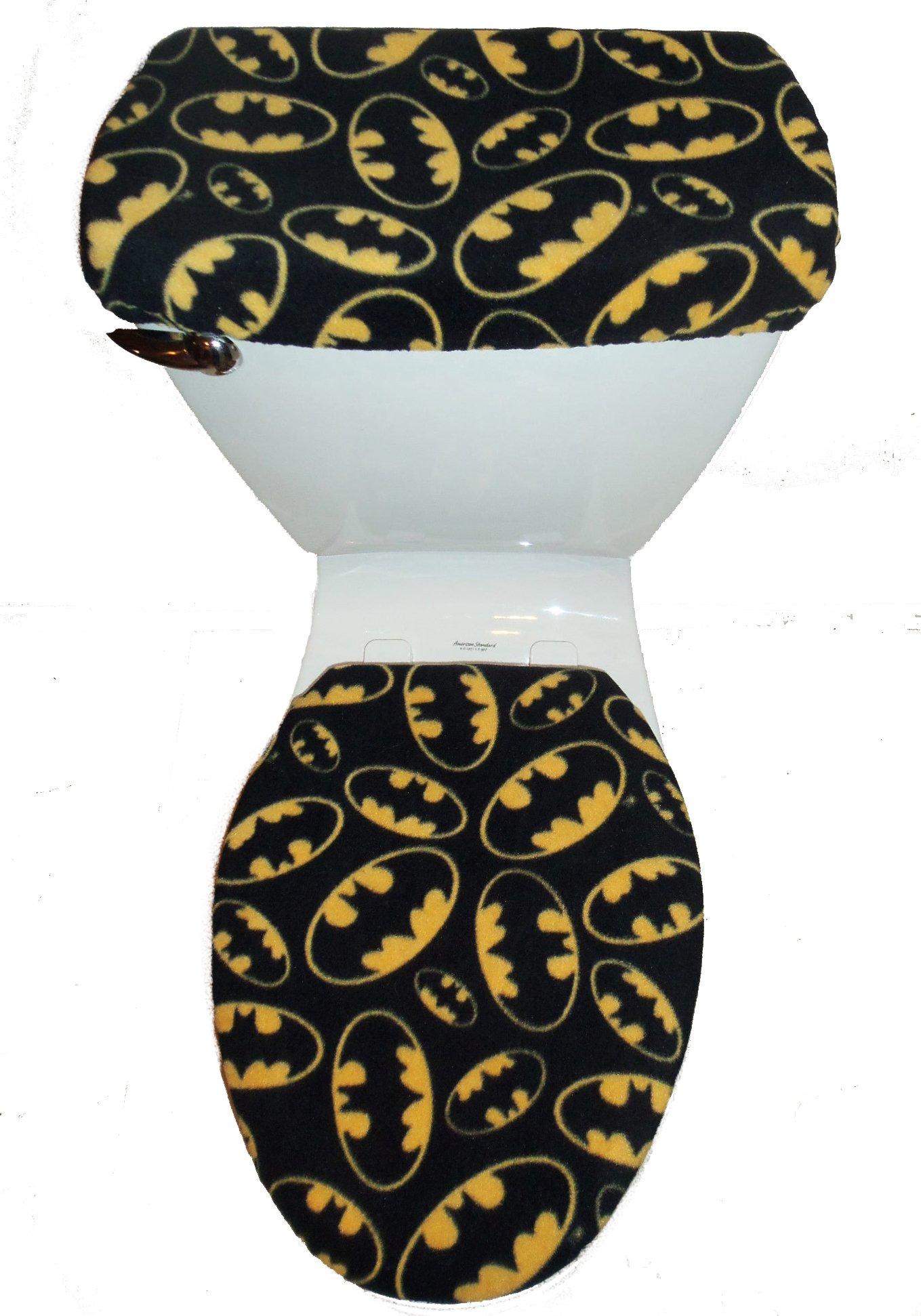 Rock'N Deals Seller Batman Logo Fleece Toilet Seat Cover Set by Rock'N Deals Seller
