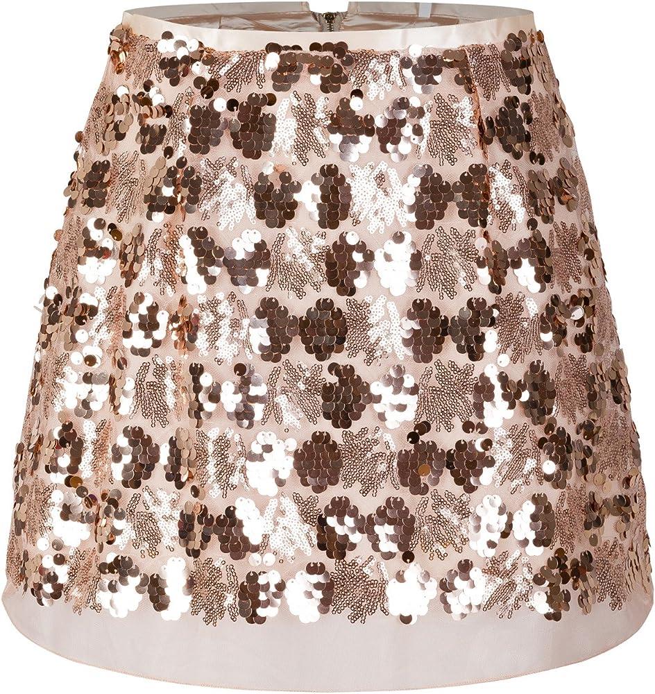 Beauty7 Mujeres Mini Falda de Sequines Bordado Moda Sexy ...