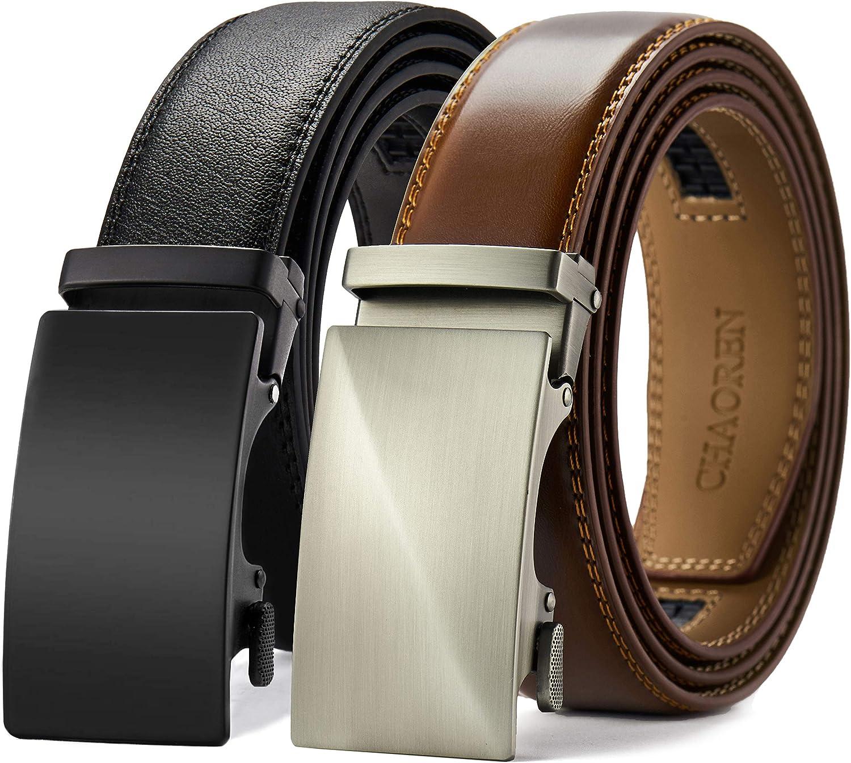 Automatic Slide Buckle CHAOREN Click Ratchet Belt Buckle Only for Belt Strap Adjustable