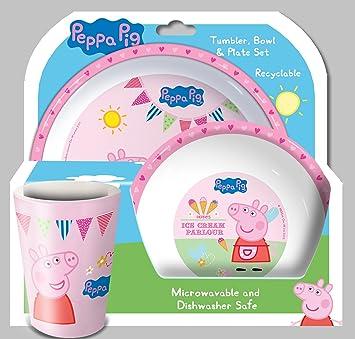 Spearmark Peppa Pig Tea Party TumblerBowl and Plate Set  sc 1 st  Amazon.com & Amazon.com | Spearmark Peppa Pig Tea Party Tumbler Bowl and Plate ...