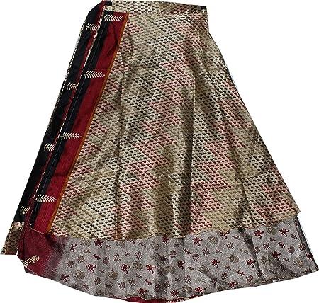 Creativegifts falda mágica de seda reversible de dos capas, tamaño ...