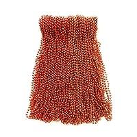 Orange Mardi Gras Beads 33 inch 7mm, 6 Dozen, 72 Necklaces