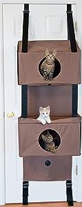 "K&H Pet Products Hangin' Feline Funhouse Small Tan 57"" x 22"" x 12""Cat Furniture"