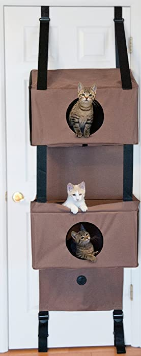 "K&H Pet Products Hangin' Feline Funhouse Small Tan 57"" x 22"" x 12""Cat Furniture"