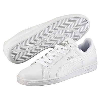 Puma Unisex Adults  Smash Leather Trainers White (White) 6e074ee42