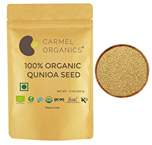 Organic Quinoa Seeds Whole   12 oz   Super Food Rich in Fibers, proteins and Amino acids