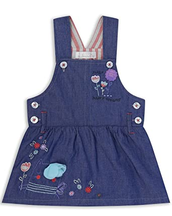 1d858c512429f The Essential One - Fille Enfant Pinafore / Robe - 5-6 Ans - Bleu ...