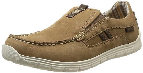Dockers by Gerli 36MB004-302423, Mocasines para Hombre, Gris-Grau (Stone/Braun 423), 40 EU: Amazon.es: Zapatos y complementos