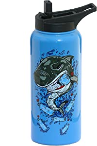 Sage Flask Water Bottle 32 oz | Stainless Steel & Double Wall Vacuum Insulated | Hot & Cold Simple Thermos Modern Travel Mug | Hydro Metal Canteen | 2 LIDS Wide Mouth with Straw Lid | Limited Edition