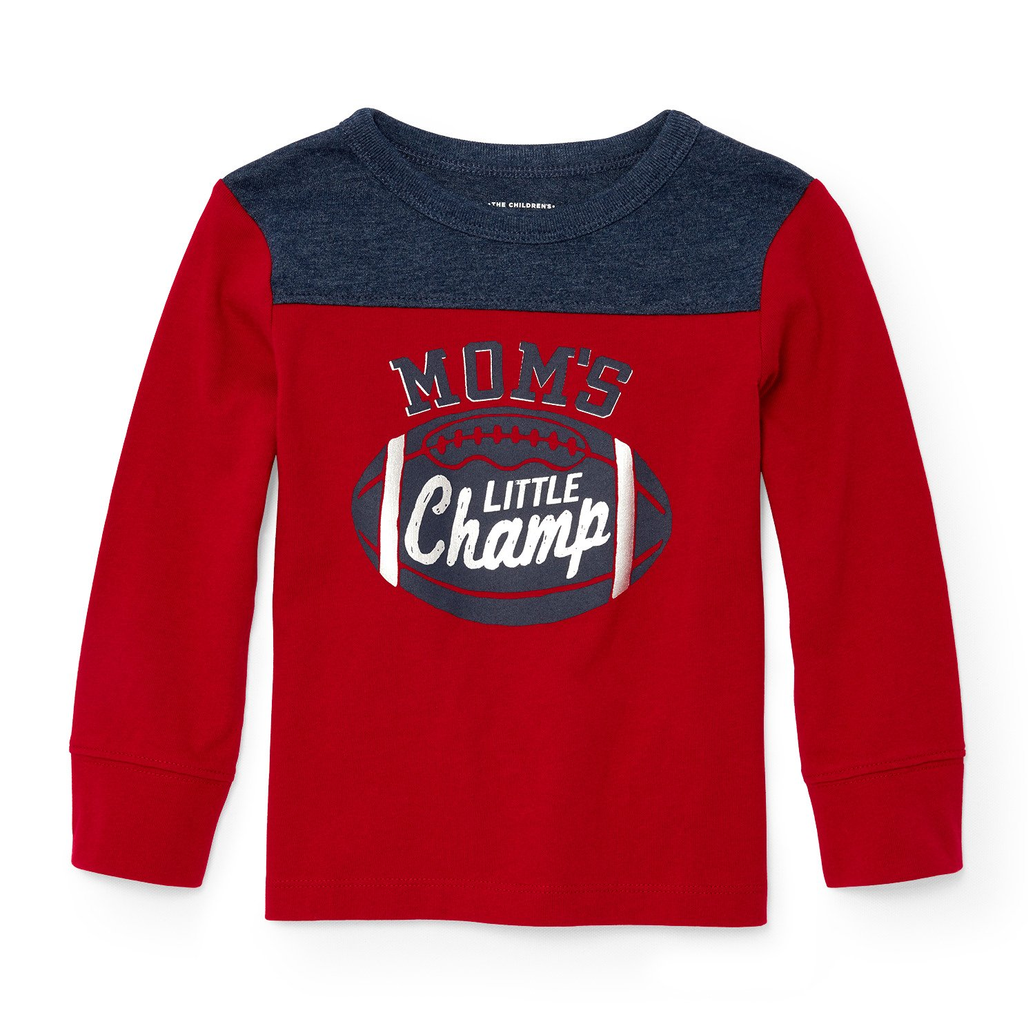 The Children's Place Boys' Long Sleeve Football Graphic Knit Top 2087389