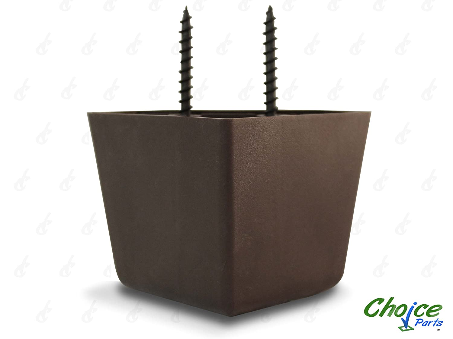 Choice Parts 2 Inch Tall Triangle Walnut Brown Plastic Sofa Legs Pack of 4 Replacement Feet 650 Triangle Sides Measure 6cm X 6cm X 8.5cm