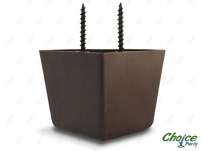 Opción piezas 5,08 cm trípticas trisquel nogal marrón plástico EBUY patas (pack de 4 pies de recambio): Amazon.es: Bricolaje y herramientas